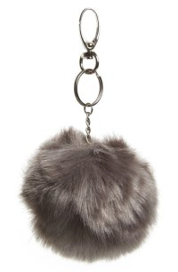 Faux Fur Pom Key Ring Top Shop Nordstrom